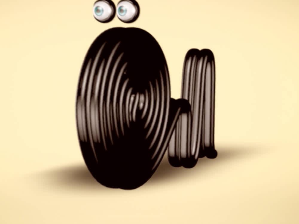 Serpente de alcaçuz ilustrativa com olhos