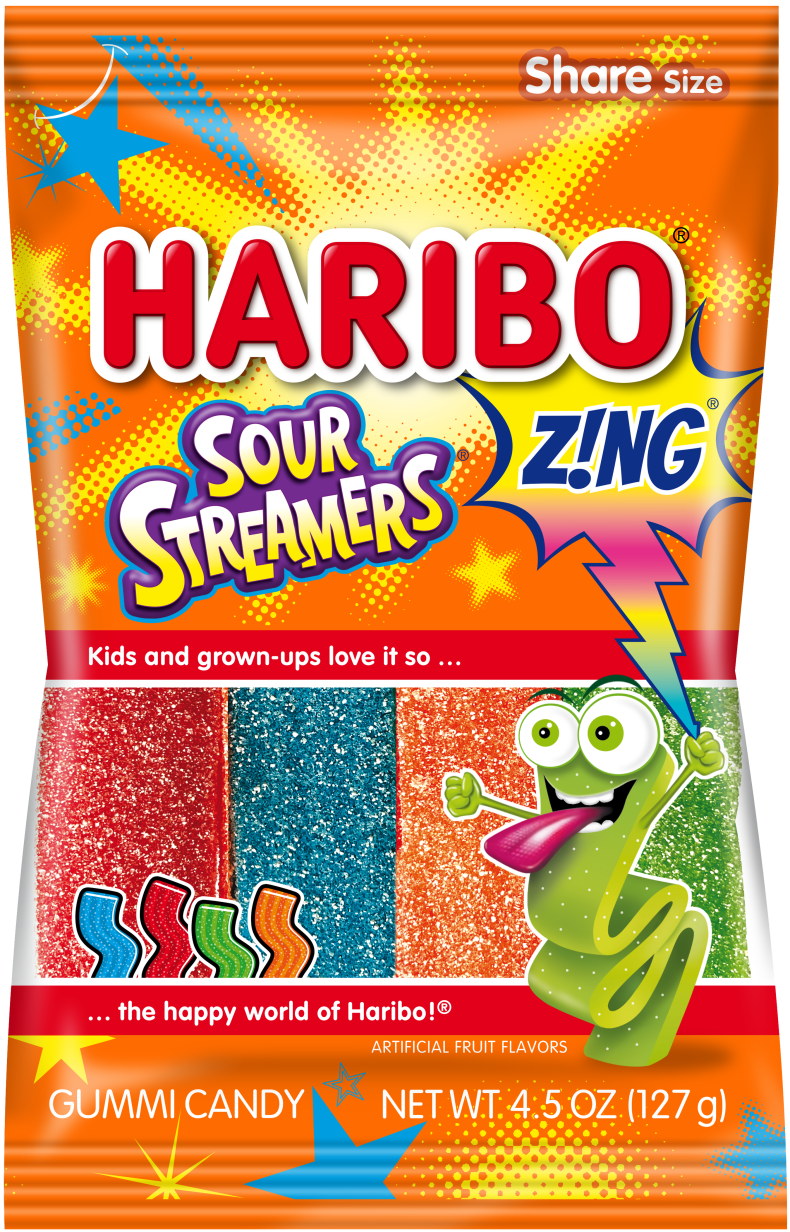 Pack of HARIBO Z!NG Sour Streamers