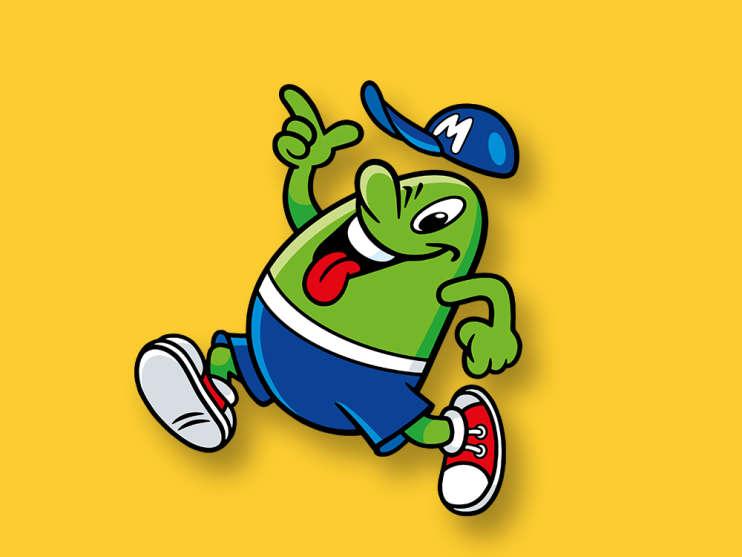 MAOAM-maskoten Mr. Fruitman
