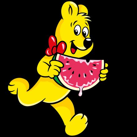 Illustration der Melonen Beutel: HARIBO Bär mit Melone