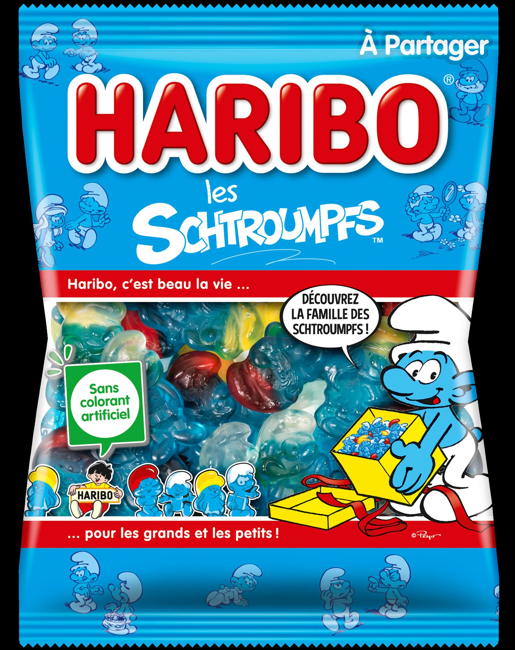Sachet HARIBO Schtroumpfs 300G