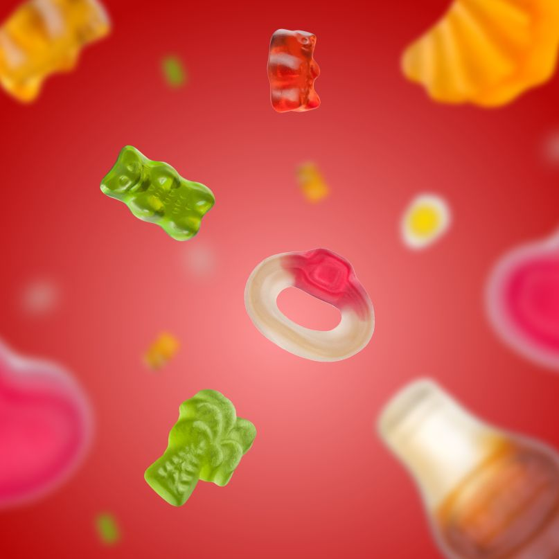 Products HARIBO (Stage Mobile, Teaser, Menu, 1:1)