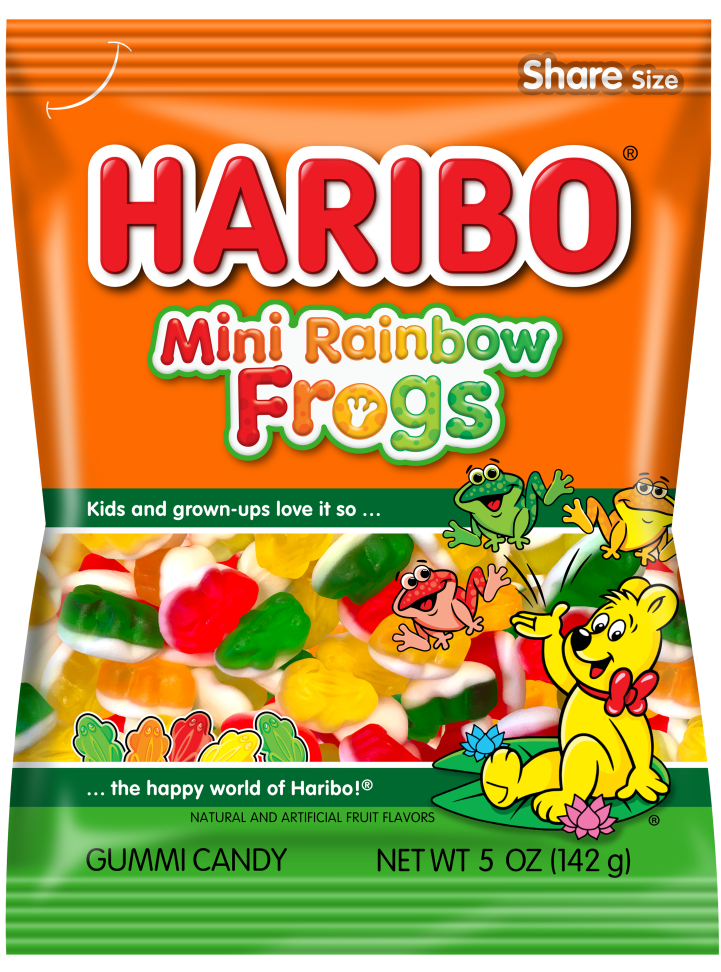 Pack of HARIBO Mini Rainbow Frogs