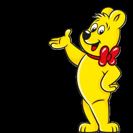 Illustratie van de Haribo Goldbären zak: HARIBO beer in pose