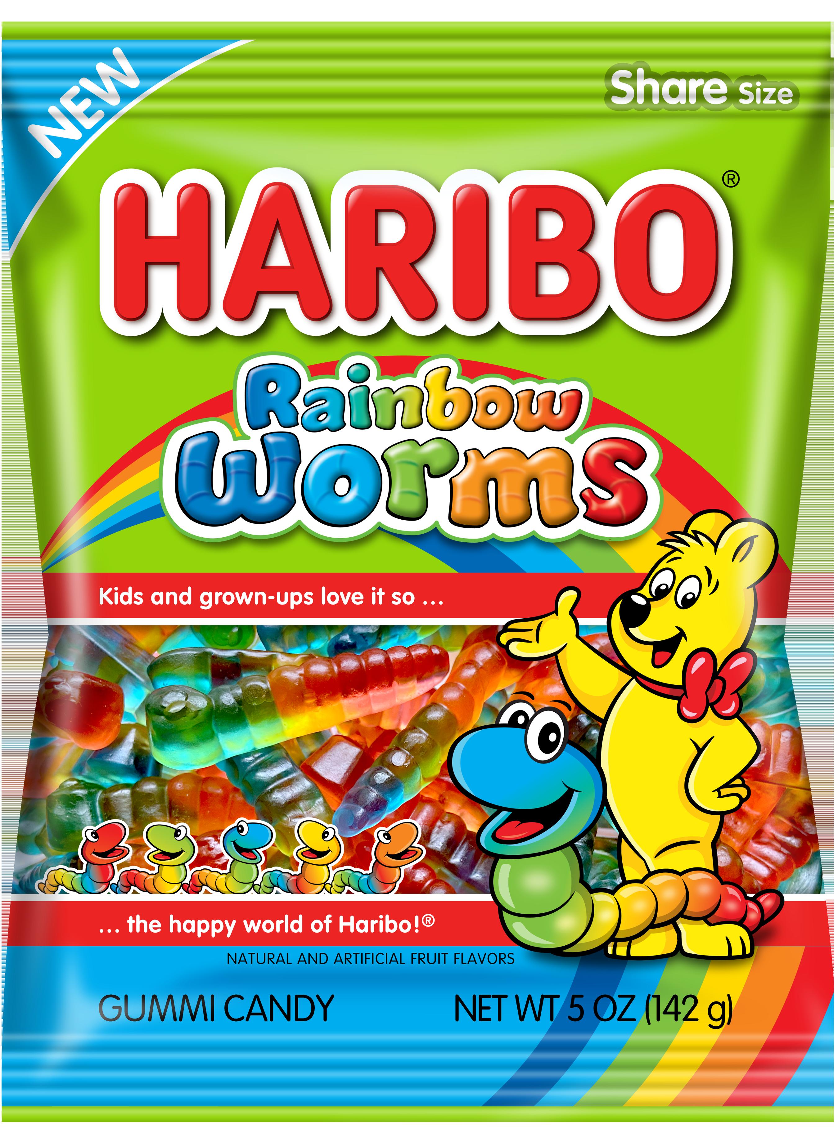 Haribo US Rainbow Worms 5 oz