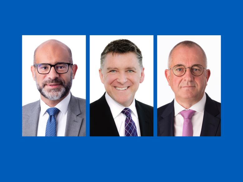 HARIBO America Board: Wes Saber, Rick LaBerge, Arndt Ruesges