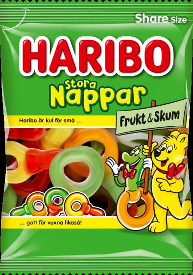 Stora Nappar Frukt Skum