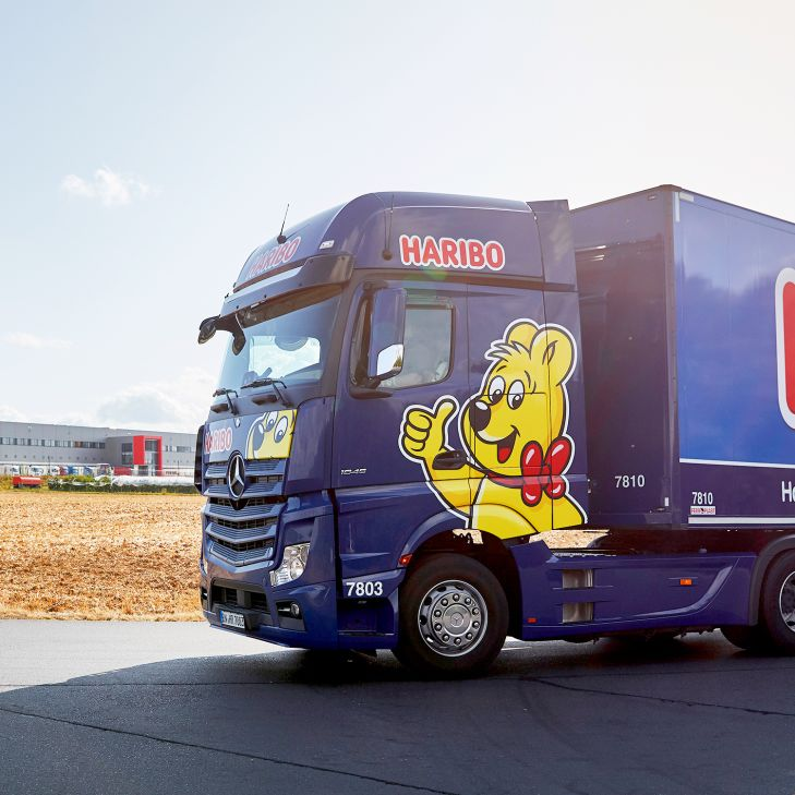 Truck with Goldbear and HARIBO lettering