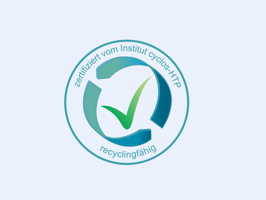 Siegel Recyclingfähigkeit (Institut cyclos-HTP)