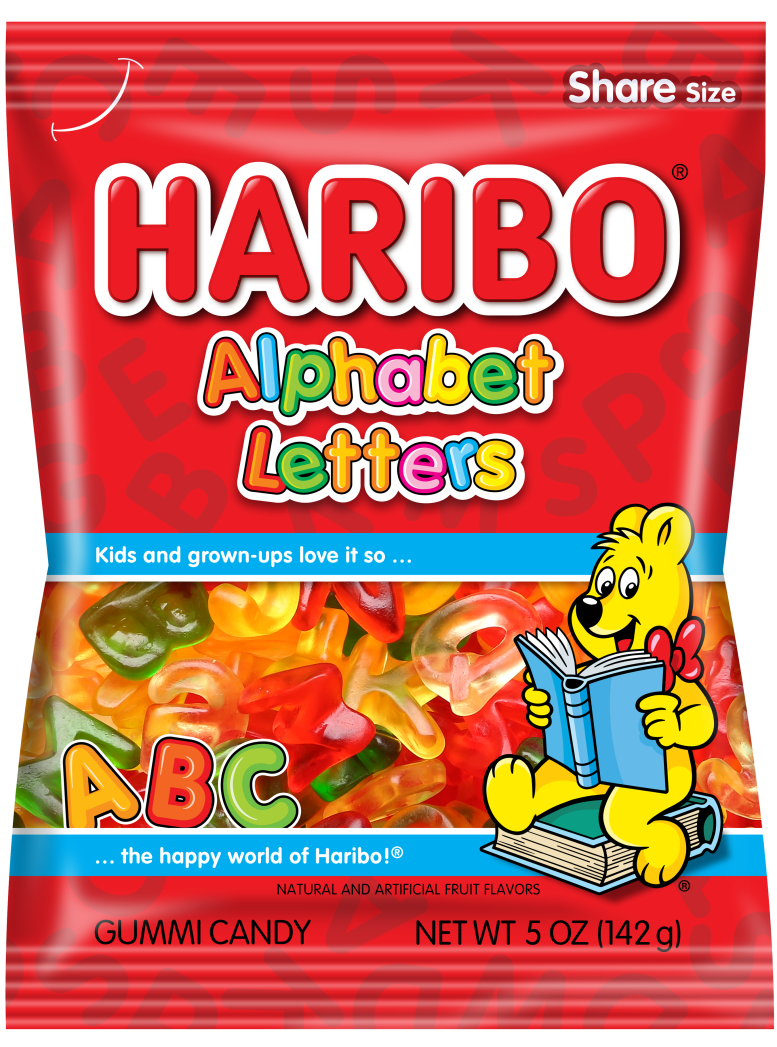 Pack of HARIBO Alphabet Letters