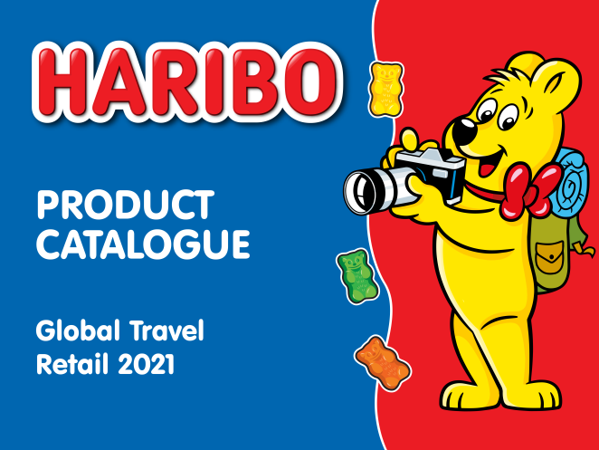 Product catalogue for HARIBO global travel retail