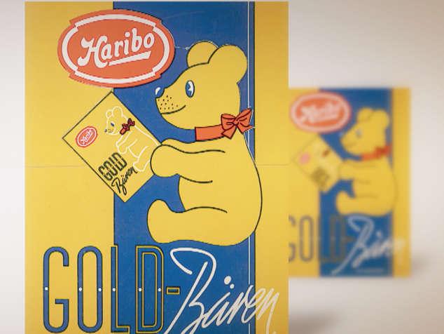 Embalagem de Ursinhos de Ouro de 1960