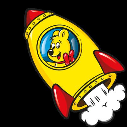 Goldbear in rocket