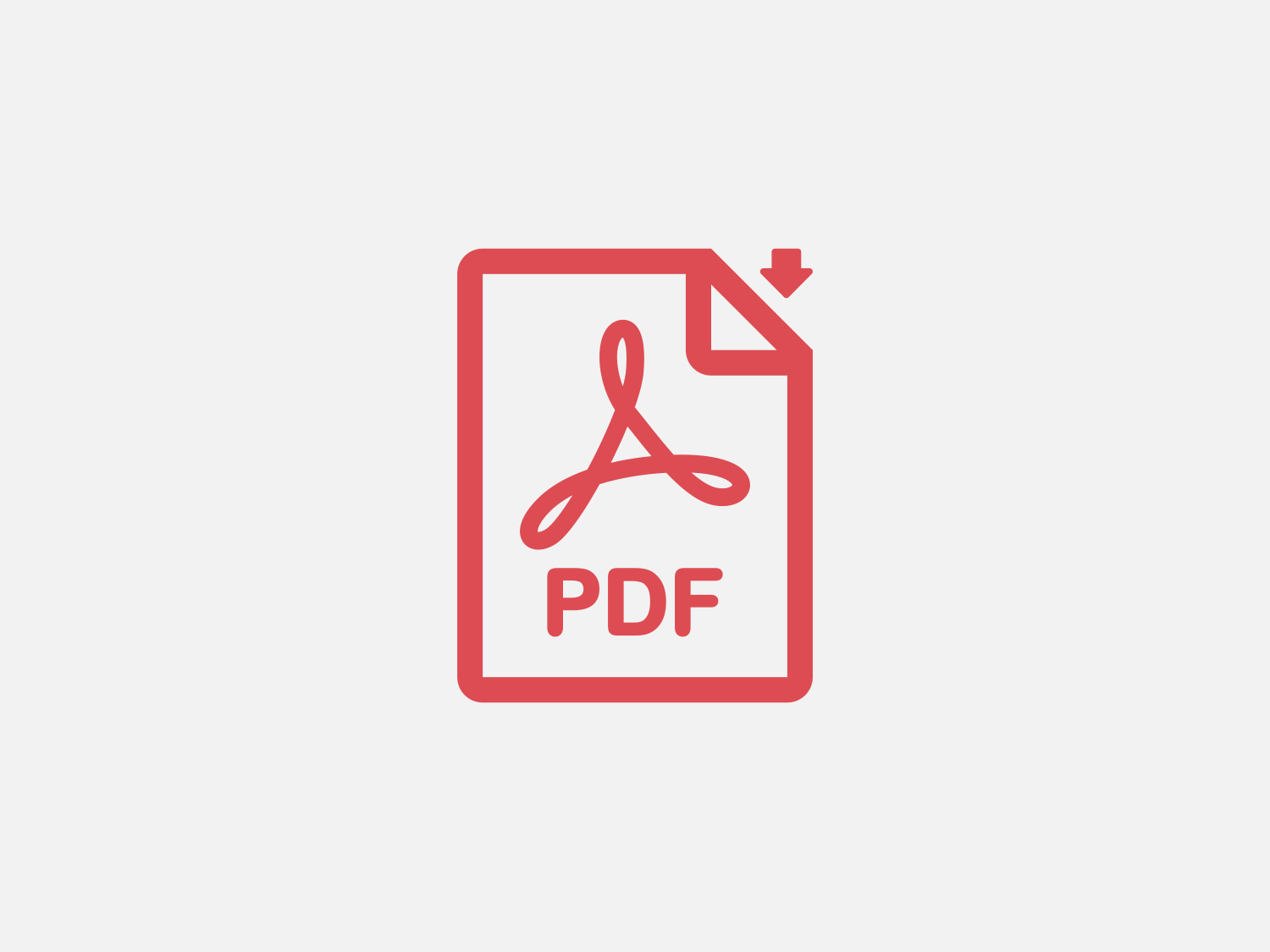 Pdf icon preview red