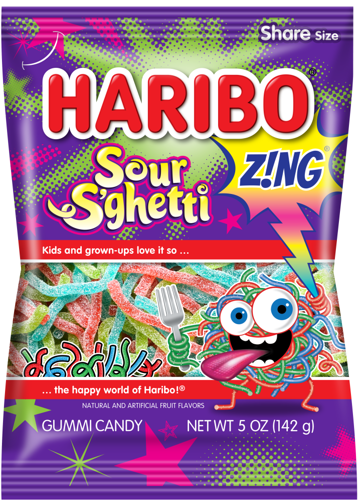 Pack of HARIBO  Z!NG Sour S'ghetti