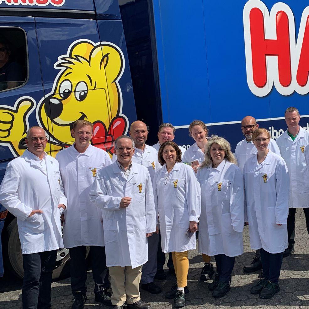HARIBO of America Leadership Team visiting production facilities in Germany