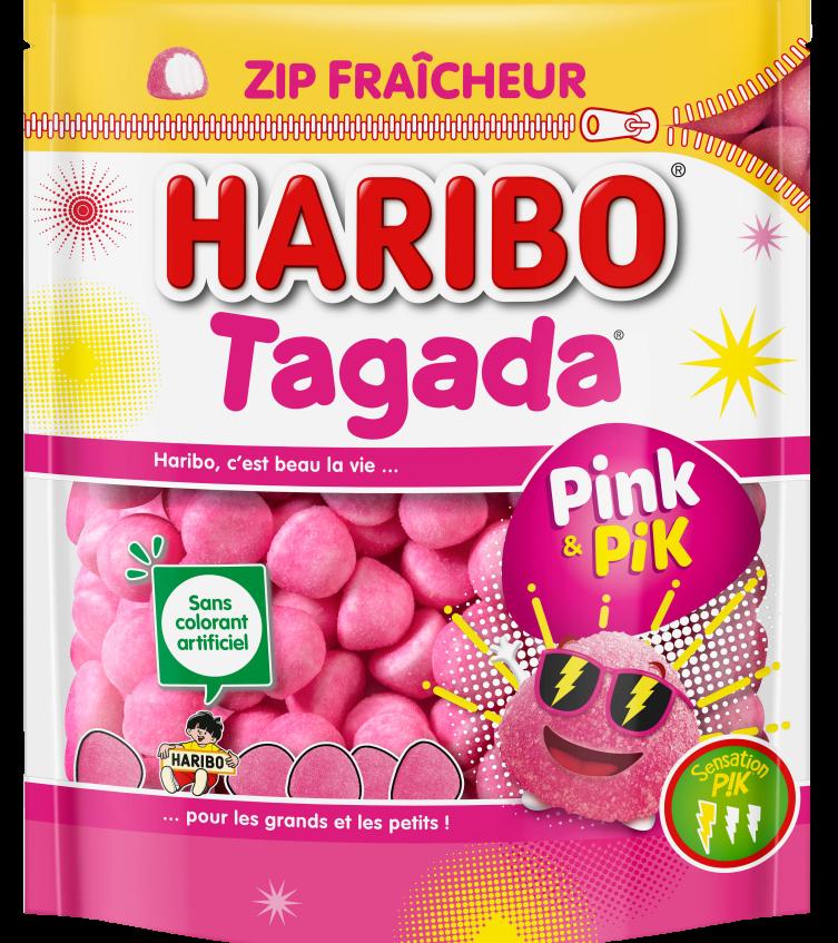 Sachet Haribo Tagada Pink PIK doypack 210g