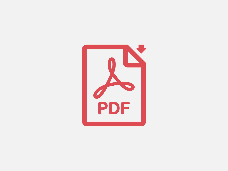 Красный значок «Скачать PDF»