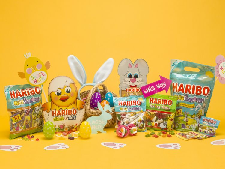 Variety of HARIBO easter specials