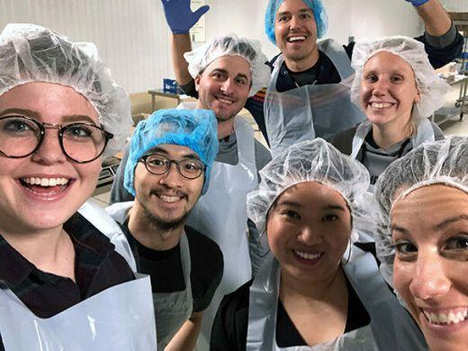 HARIBO of America Associates volunteering and food distribution center