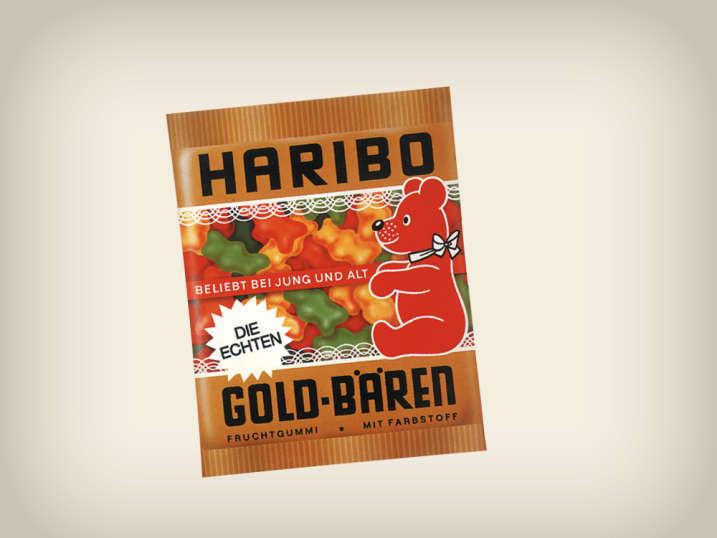 Embalagem de Ursinhos de Ouro dos anos 70