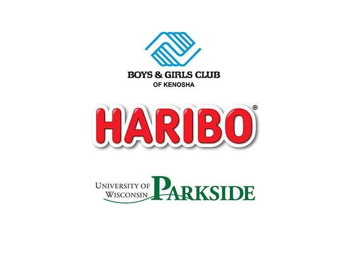 Boys and Girls Club, University of Wisconsin and HARIBO logos