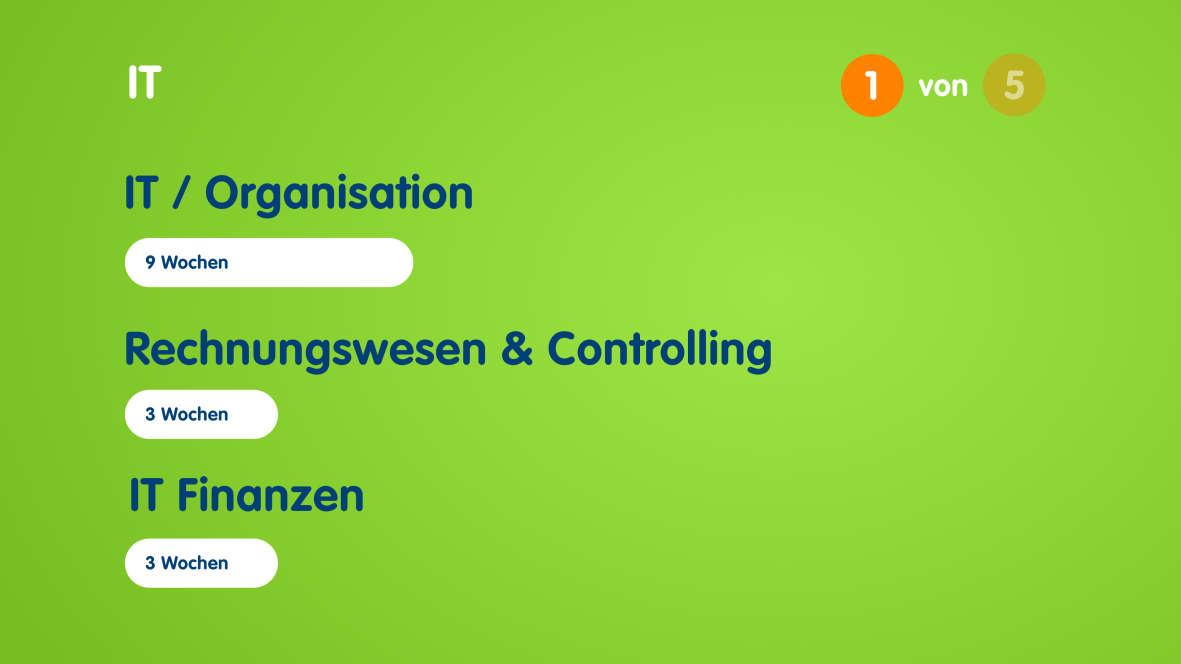 Infografik zum Aufbau des Traineeprogramms in der IT