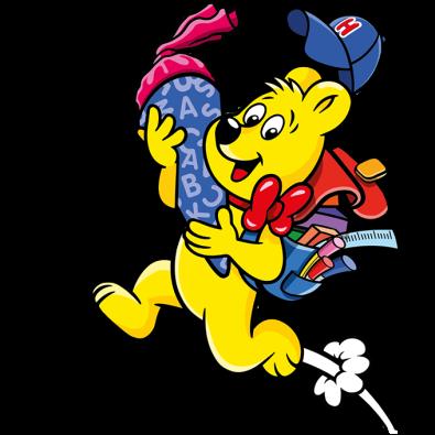 Illustration der Buntes ABC Beutel: HARIBO Bär mit Schultüte