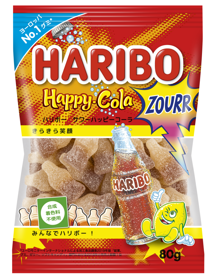 Bag of HARIBO Happy-Cola Zourr