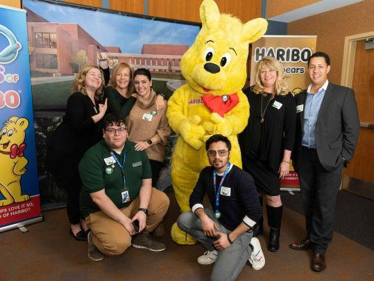 Associates with Goldbear at Parkside Day 2020 backdrop