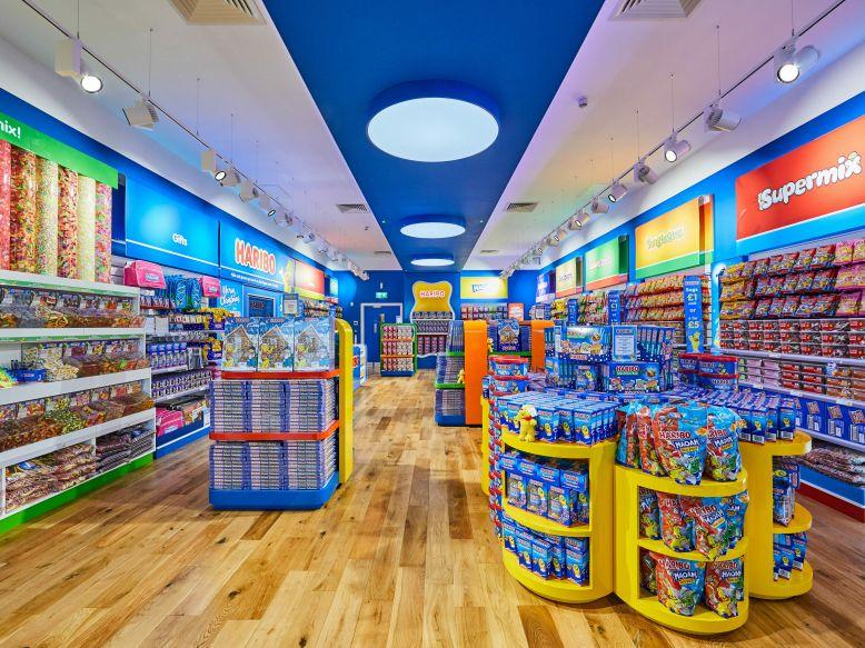 Interior of HARIBO Store in the UK