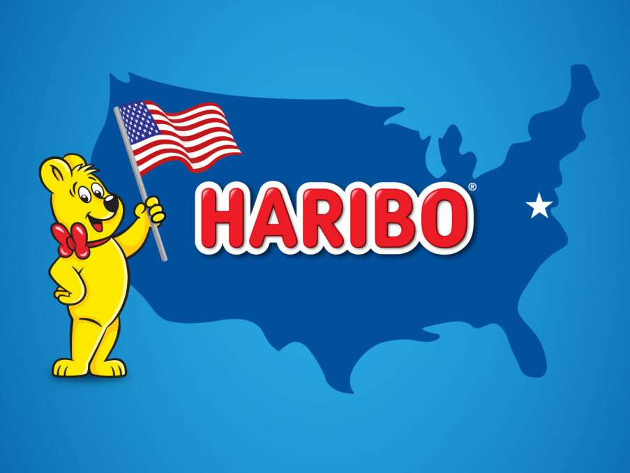 United States outline with Goldbear