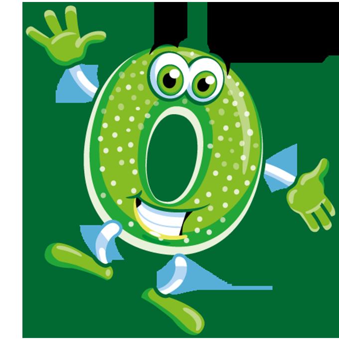 Illustration der Apfelringe Beutel: grüner grinsender Apfelring