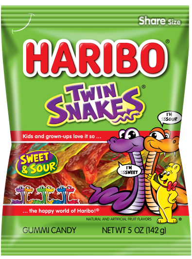 Pack of HARIBO Twin Snakes