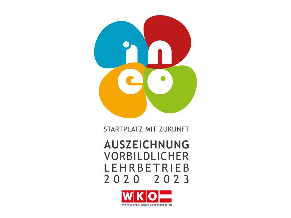 Auszeichnung vorbildlicher Lehrbetrieb 2020-2023 von ineo