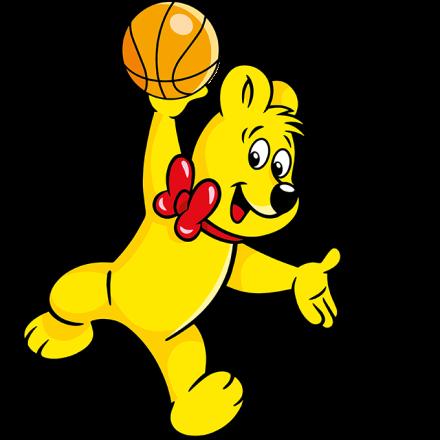 Illustration der Balla-Balla Beutel: HARIBO Bär mit Basketball