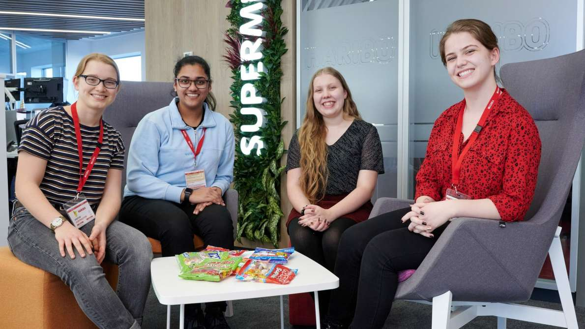 Four female student scholars from the Arkwright Engineering Scholarship Programme