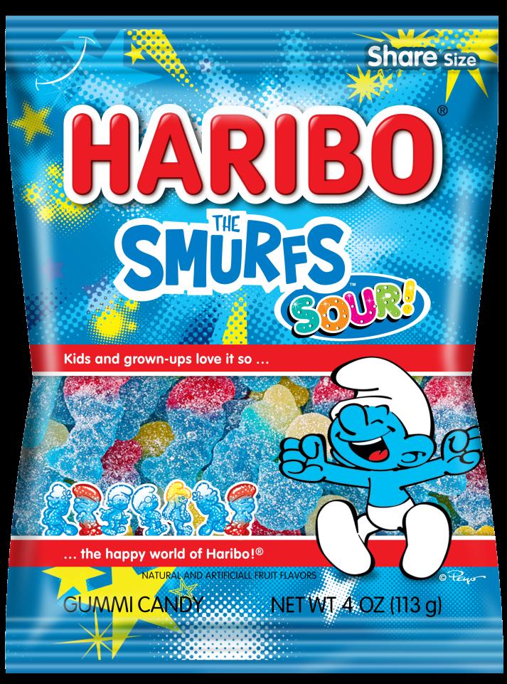 Pack of HARIBO Sour Smurfs