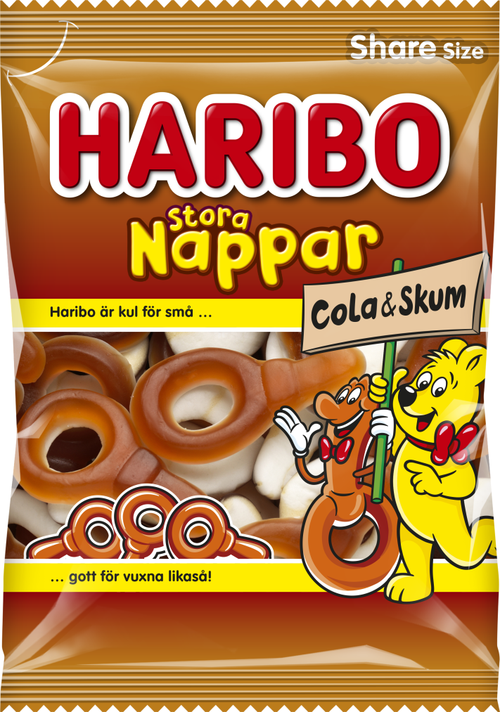 Stora Nappar Hallon Cola skum 170g