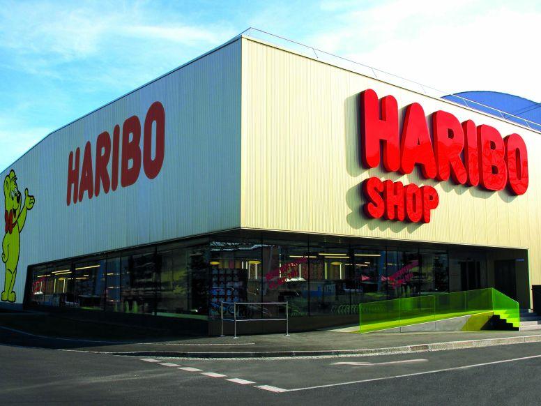 Außenansicht des HARIBO Werksverkauf Linz